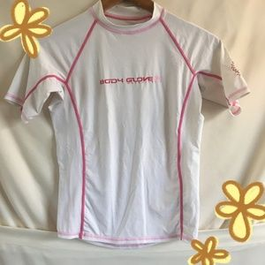Body Glove Pink and White Children's Rashguard
